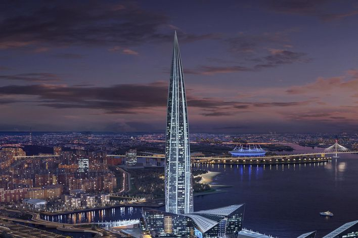 Lakhta Center in St. Petersburg, Russland. (Quelle: TRUMPF)
