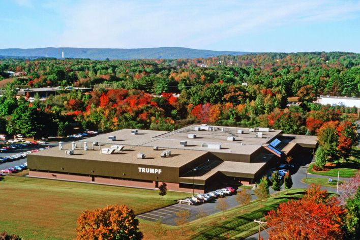 historical building of the company building of TRUMPF in Farmington USA