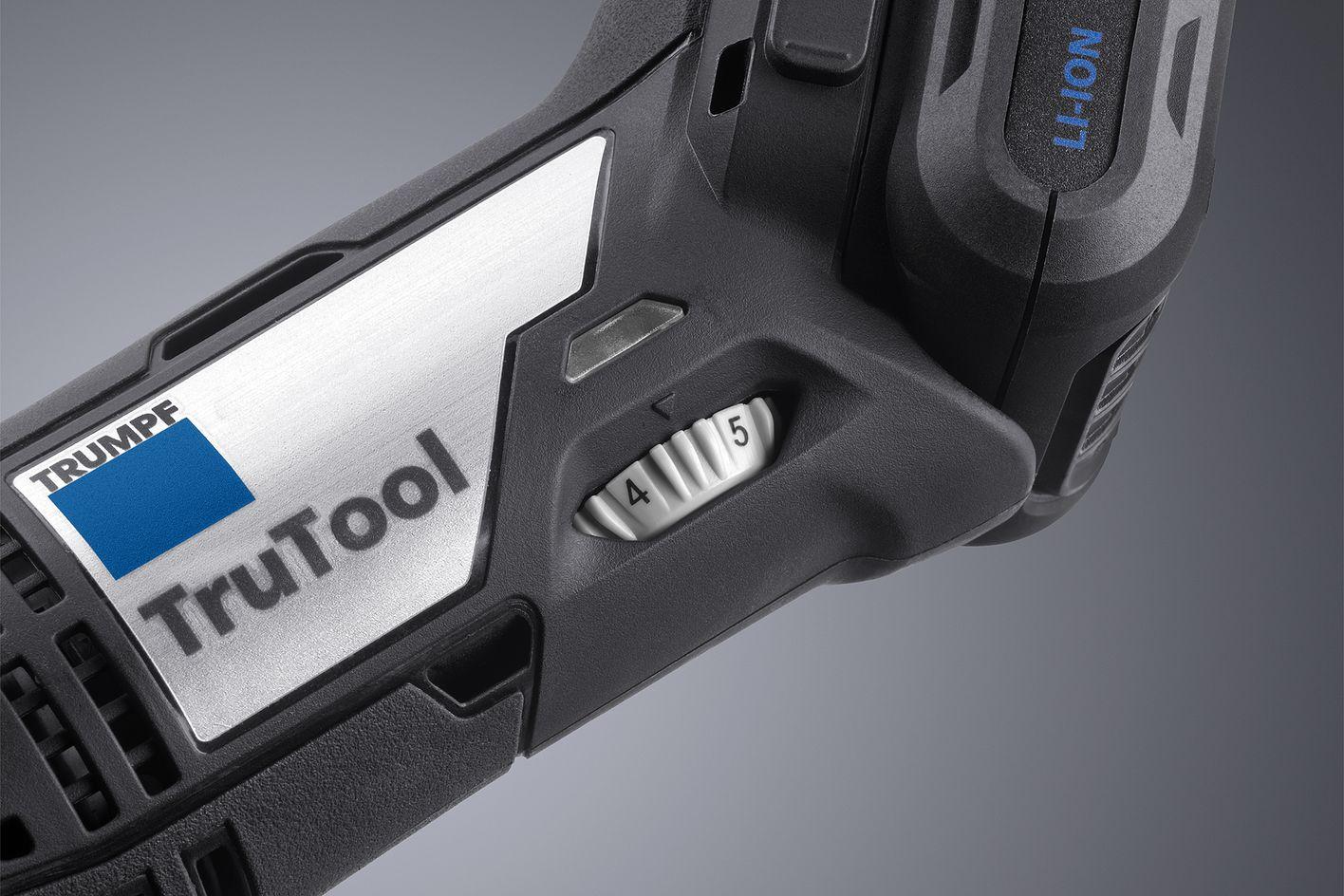 Battery-powered machine, speed control