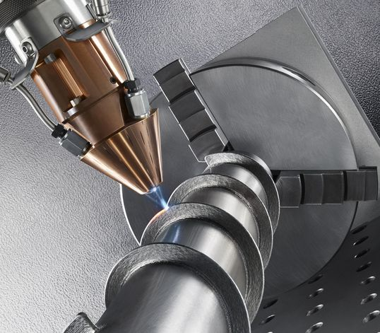 Image of additive laser metal deposition technology