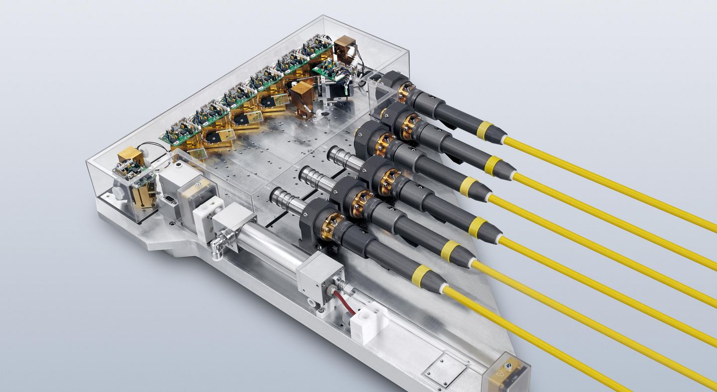Image of the technology inside the TRUMPF pulsed lasers