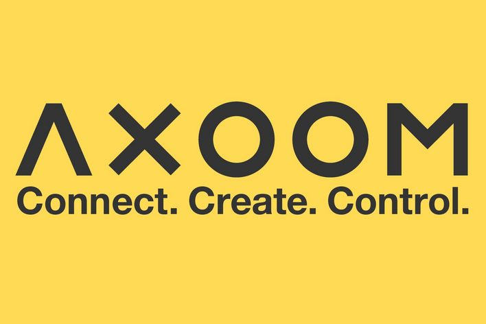 logo of AXOOM in yellow and black