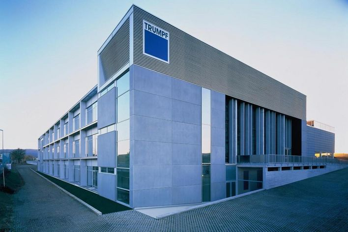 building of TRUMPF in Ditzingen Germany