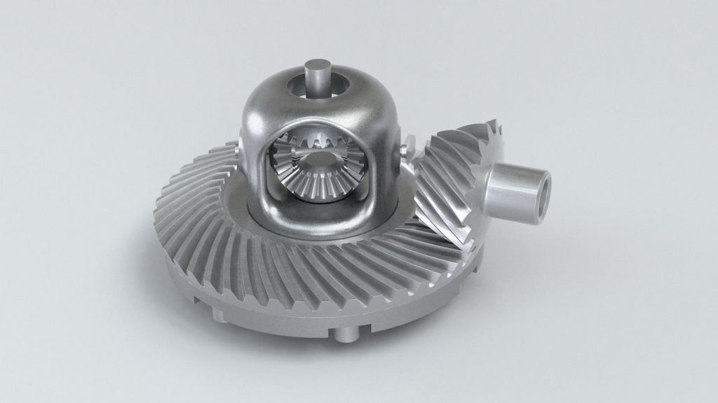 Lightweight differential produced using a laser