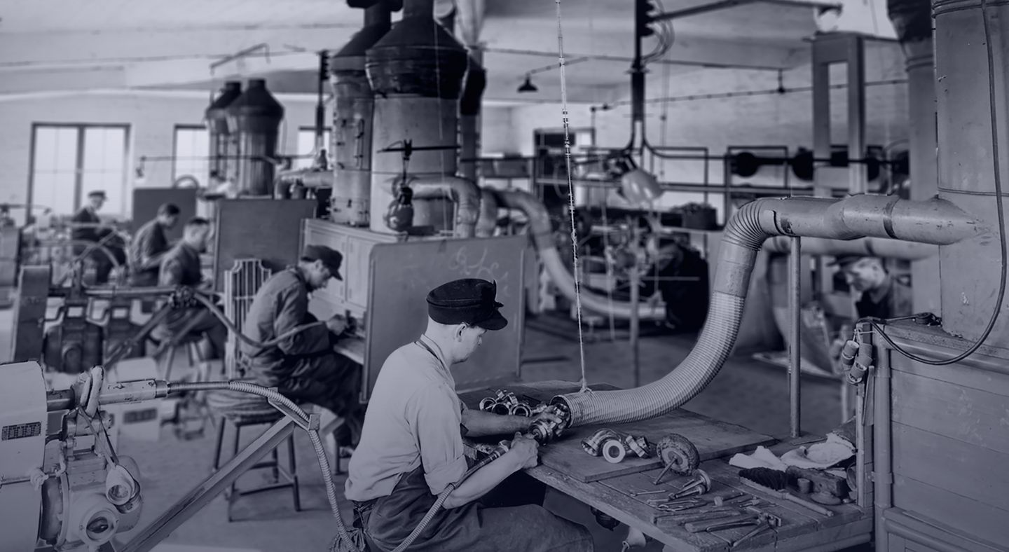 historical picture of the Stuttgart machine shop Julius Geiger GmbH
