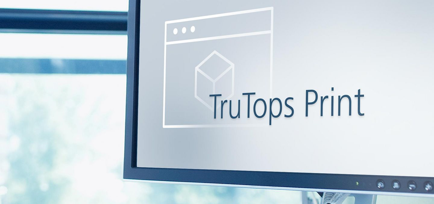 Softwarebild TruTops Print, TRUMPF