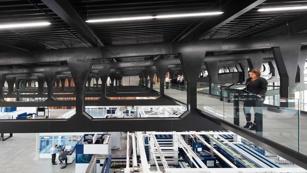 Skywalk in der Smart Factory in Chicago