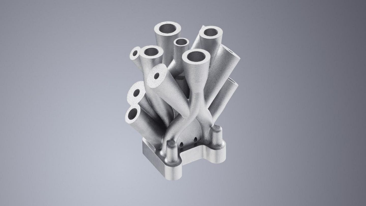 Additively manufactured hydraulic block with TruPrint machines from TRUMPF