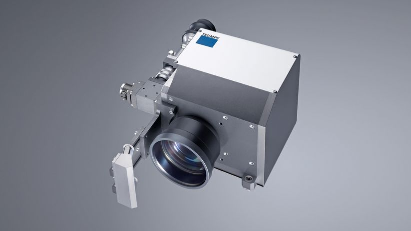 The TruFiber features an interface for connecting TRUMPF processing optics, such as the PFO 20.