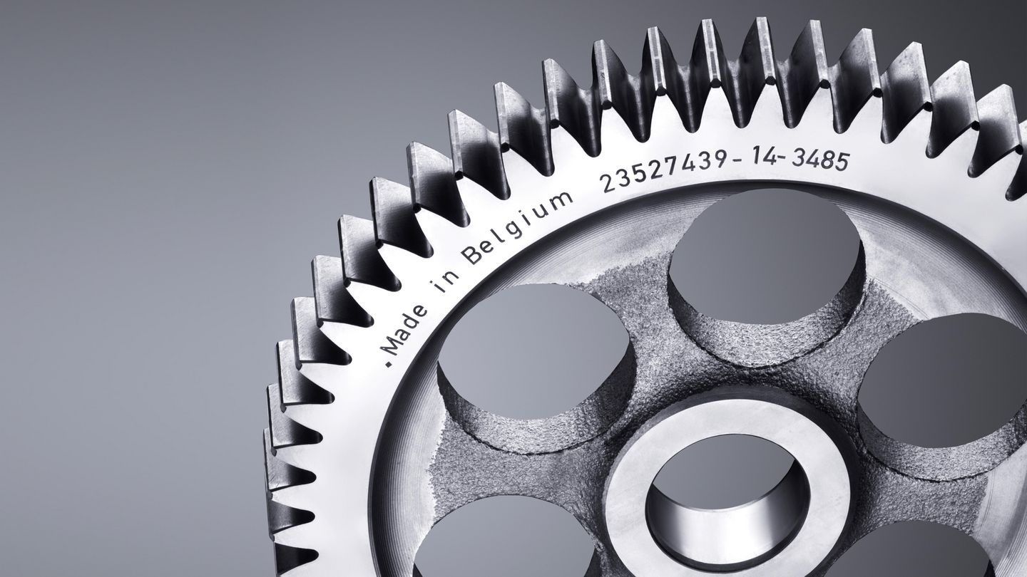 Engraved gearwheel with the TruMark Series 5000