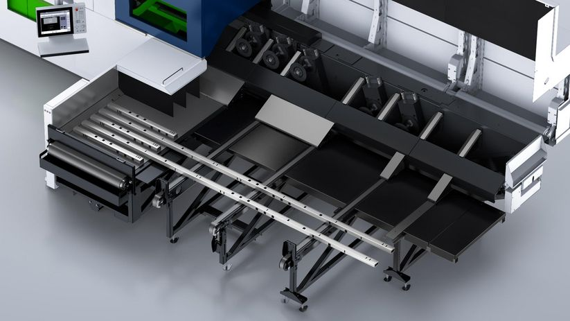 TruLaser Tube 5000 fiber, conveyor tables