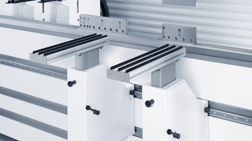 TruBend Series 8000, support brackets make component handling easier