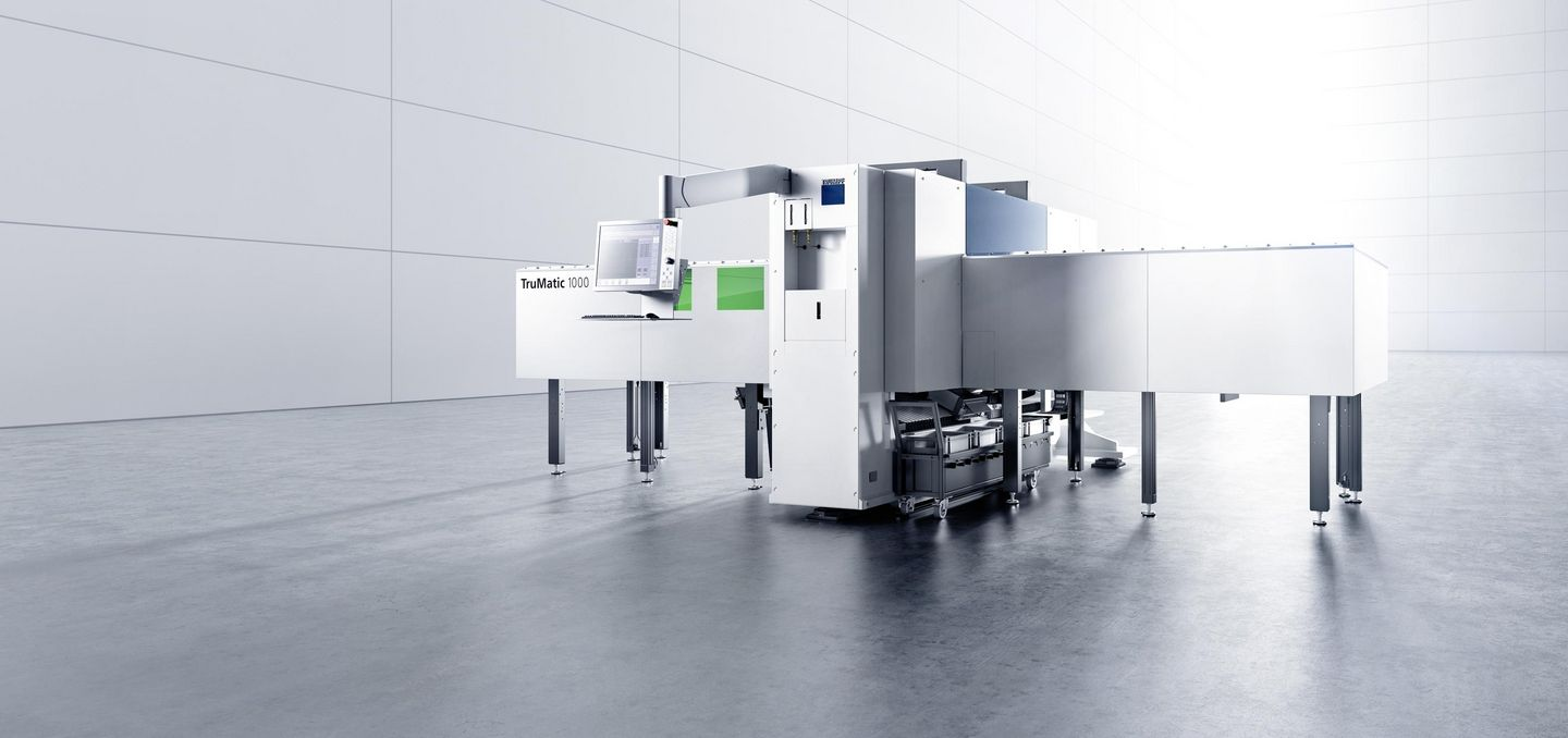 TruMatic 1000 fiber, an efficient compact machine