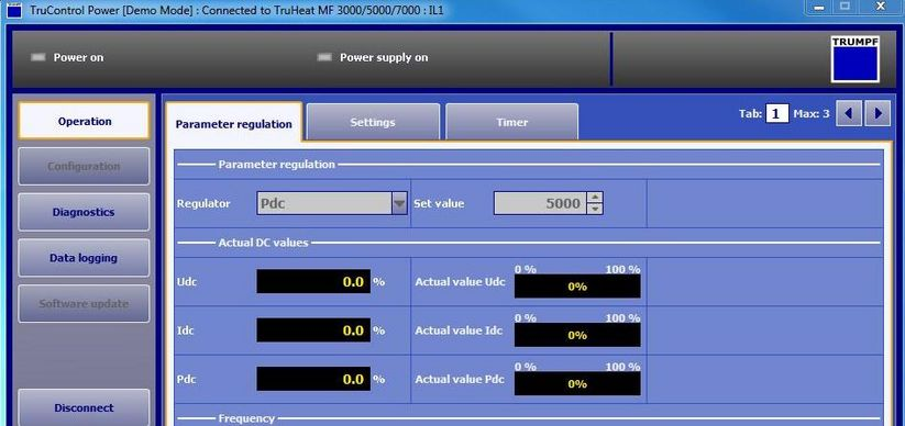 Software intuitivo TruControl Power
