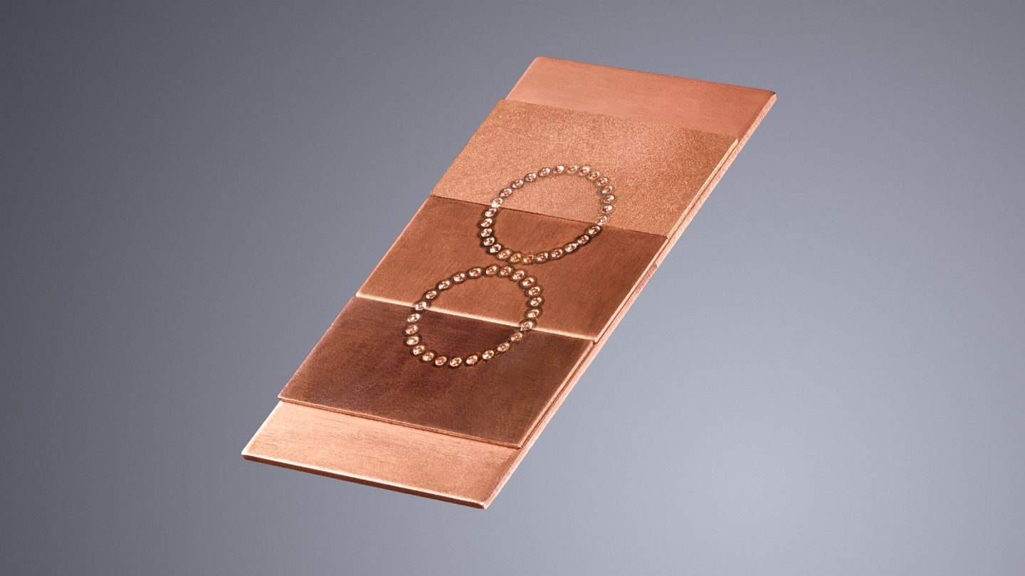 Laser-welded copper sheet