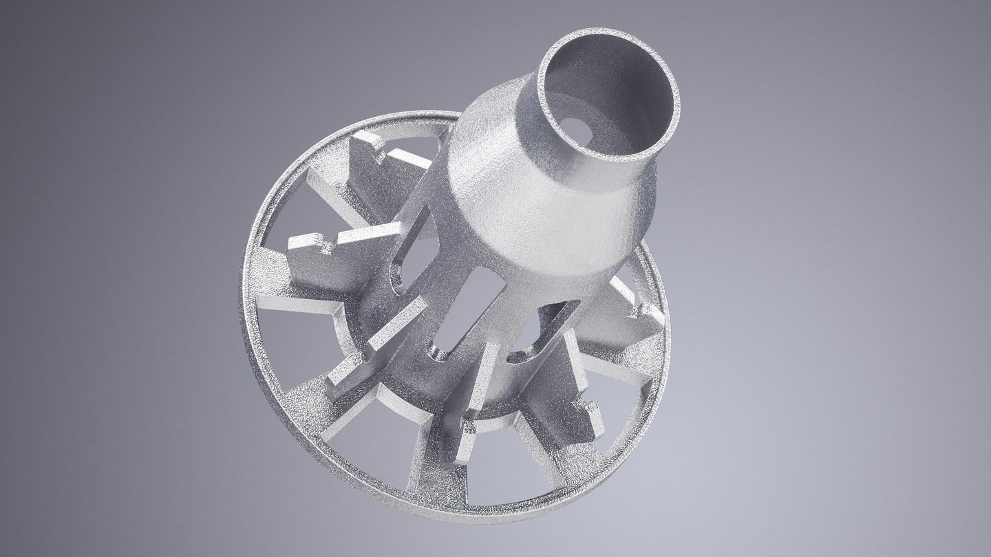 Impeller prototype produced with the TruPrint 1000