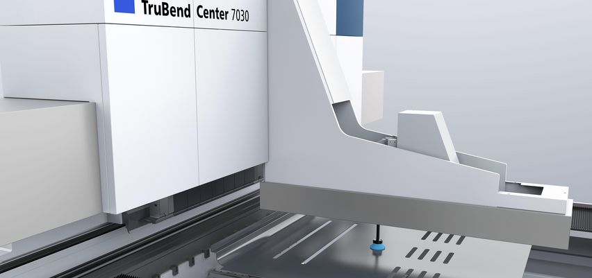 TruBend Center, positioning of the extra bending tools on the machine