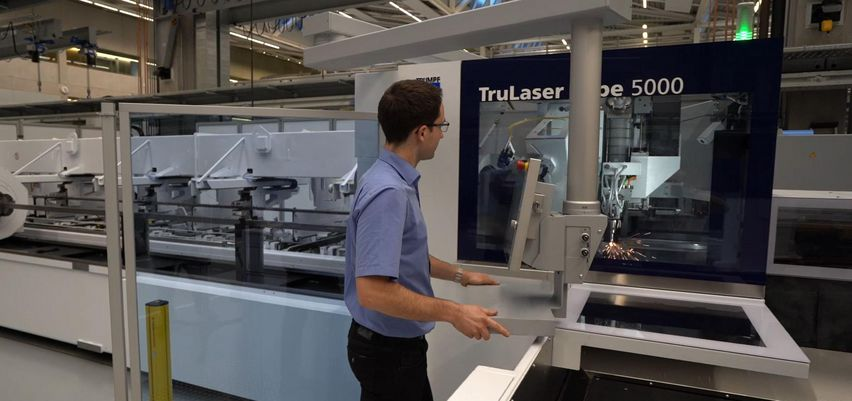 TruLaser Tube 5000, open machine concept