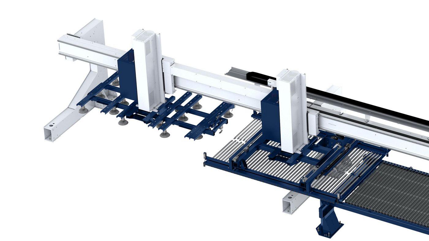 LiftMaster Shuttler mit Saugerrahmen und Rechen