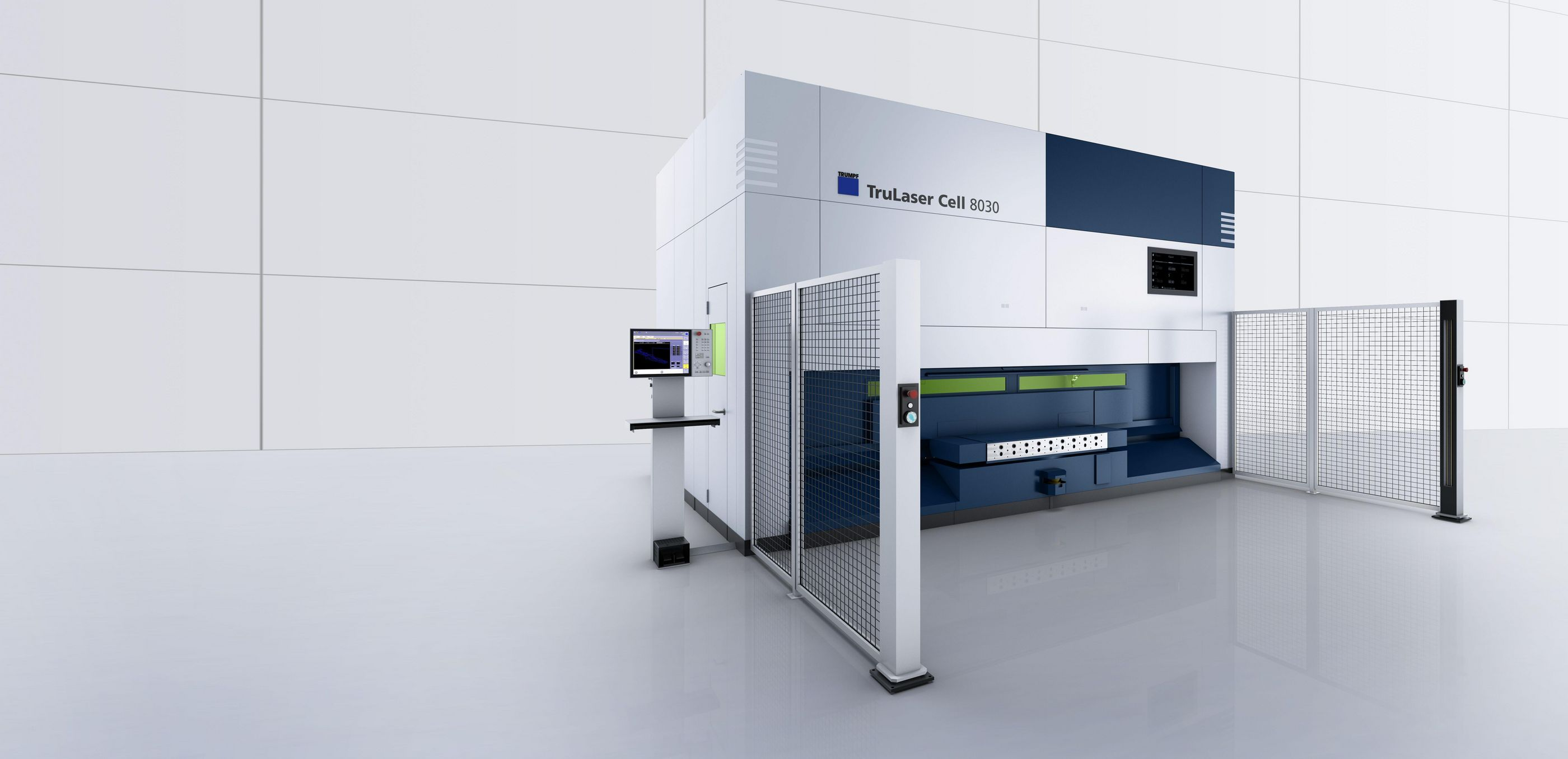 TruLaser Cell 8030 3D laser cutting machine as an installation version