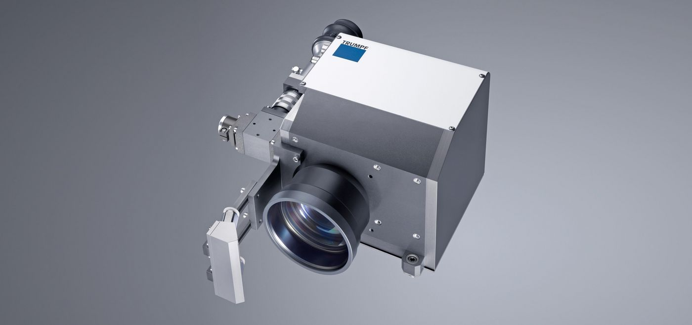The TruFiber has an interface to connect TRUMPF processing optics, such as the PFO 20.