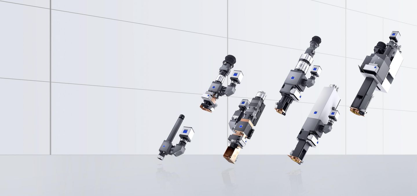 TRUMPF focusing optics from the BEO, RFO, and CFO optics line for laser welding and cutting