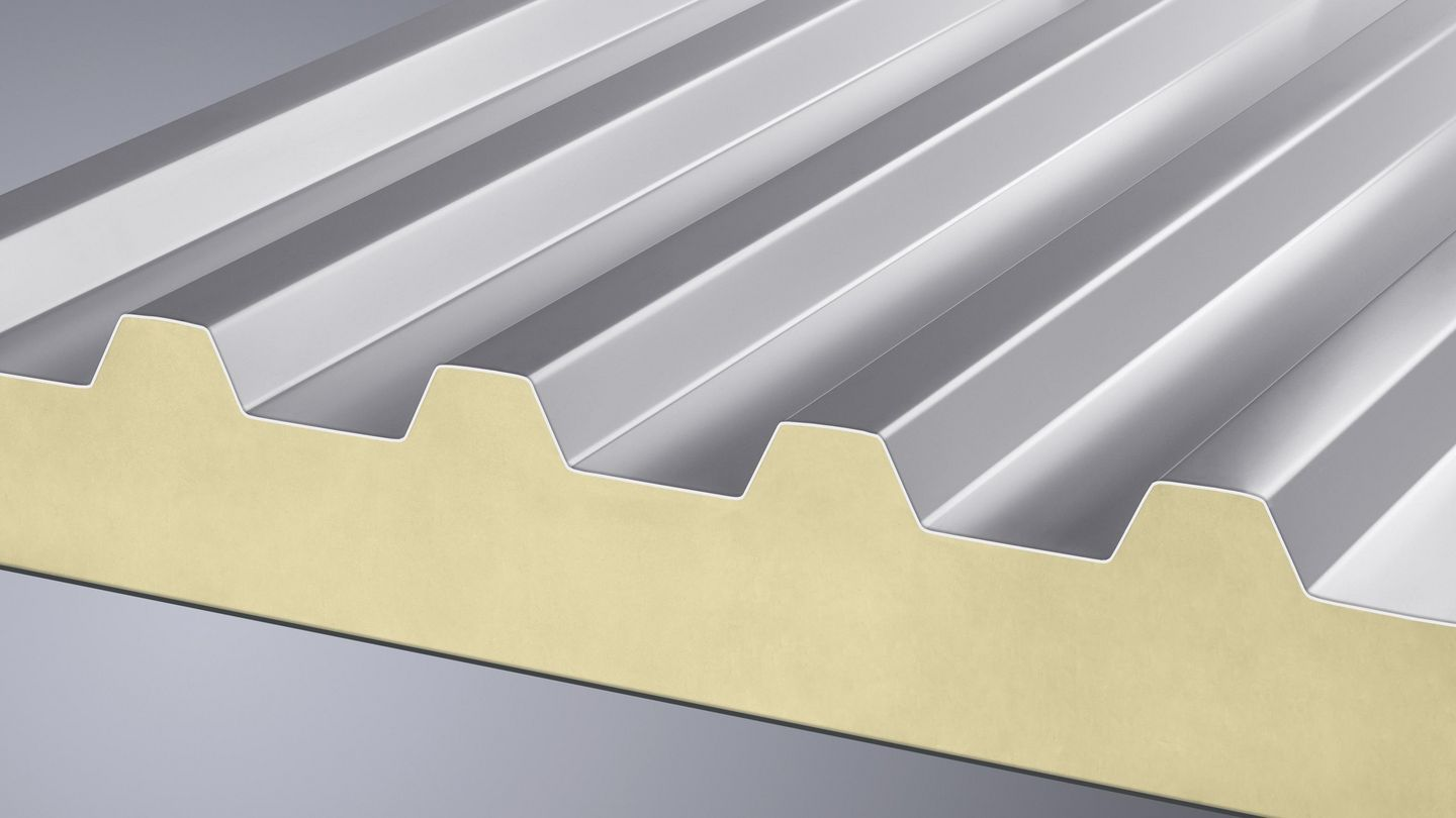 For cutting trapezoidal sandwich panels