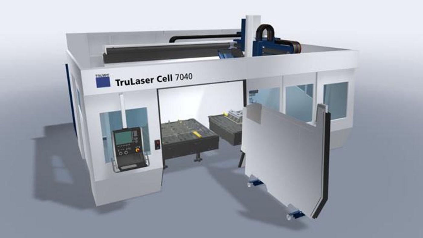 Zweistationentrennwand der TruLaser Cell Serie 7000