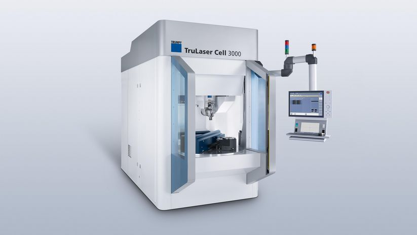 TruLaser Cell 3000 con dispositivo de cambio rotatorio