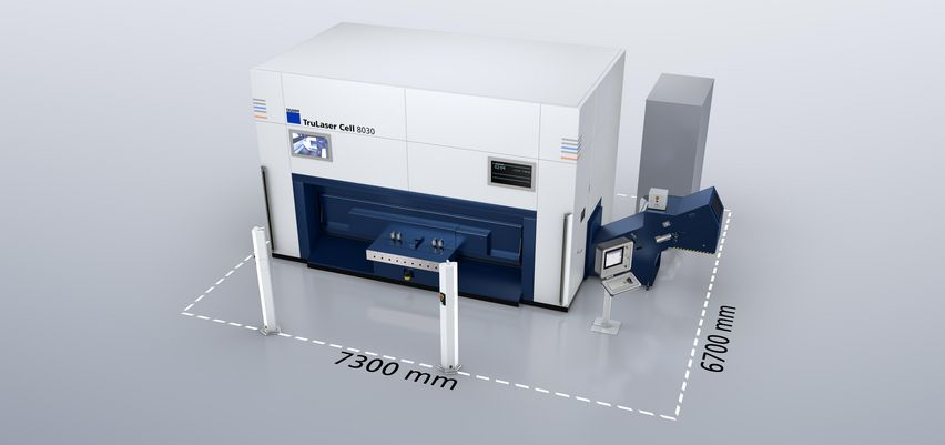 The compact footprint of the TruLaser Cell 8030