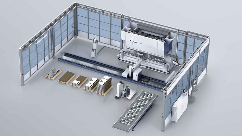 TruBend Cell 5000, conveyor belt