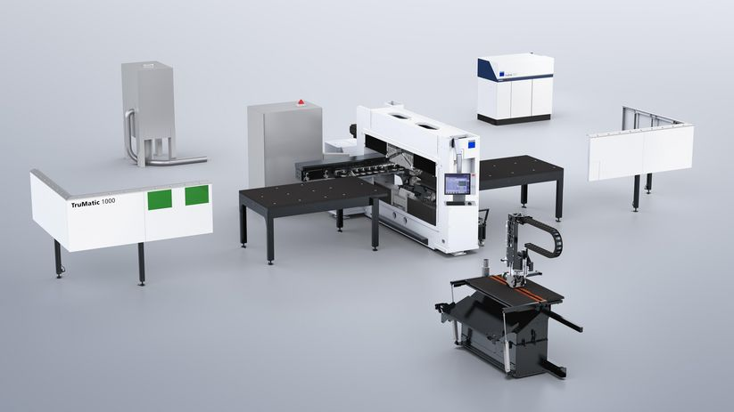 TruPunch 1000 (S19) with technology package laser cutting