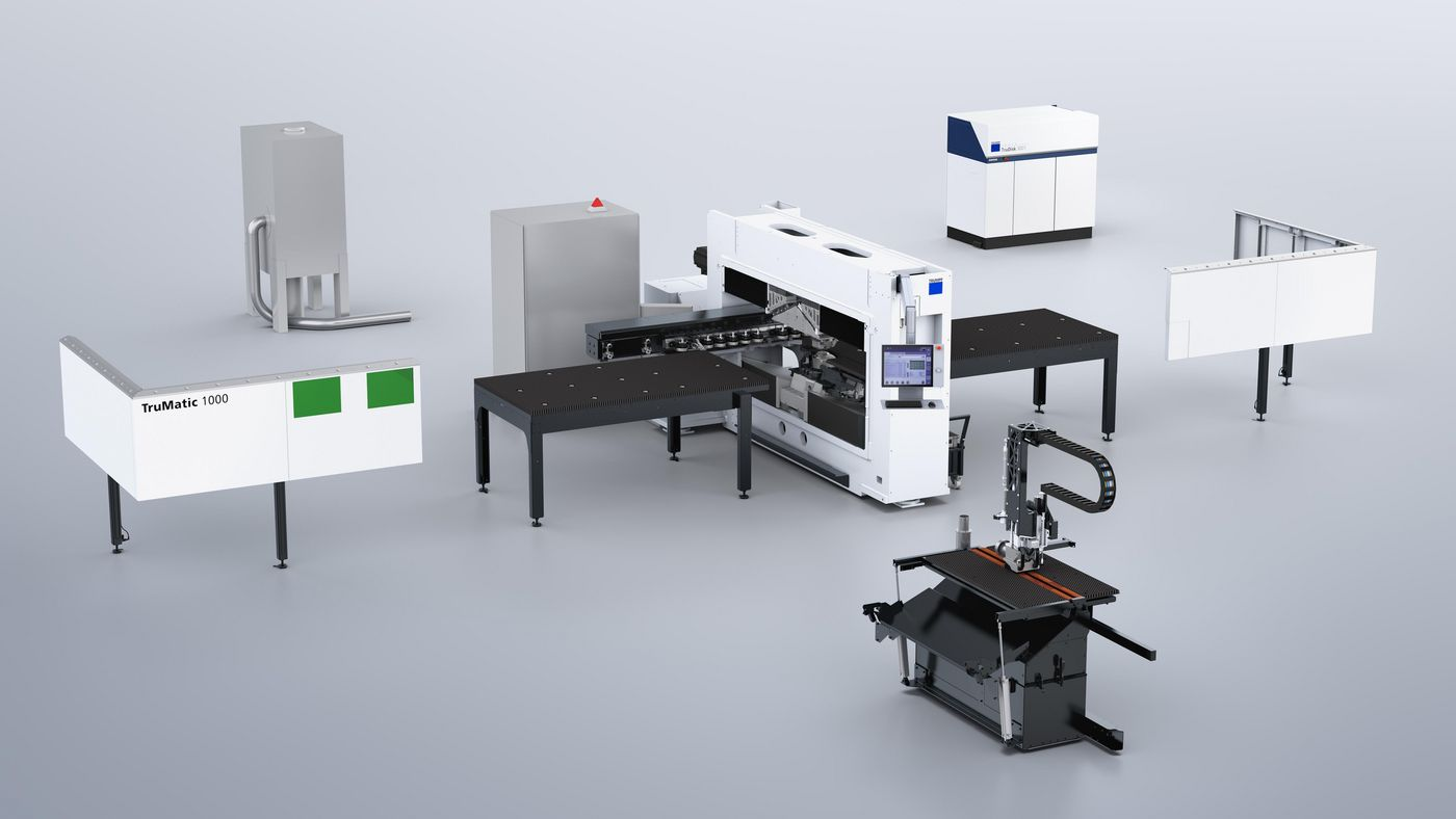 TruPunch 1000 (S19) with laser cutting technology package
