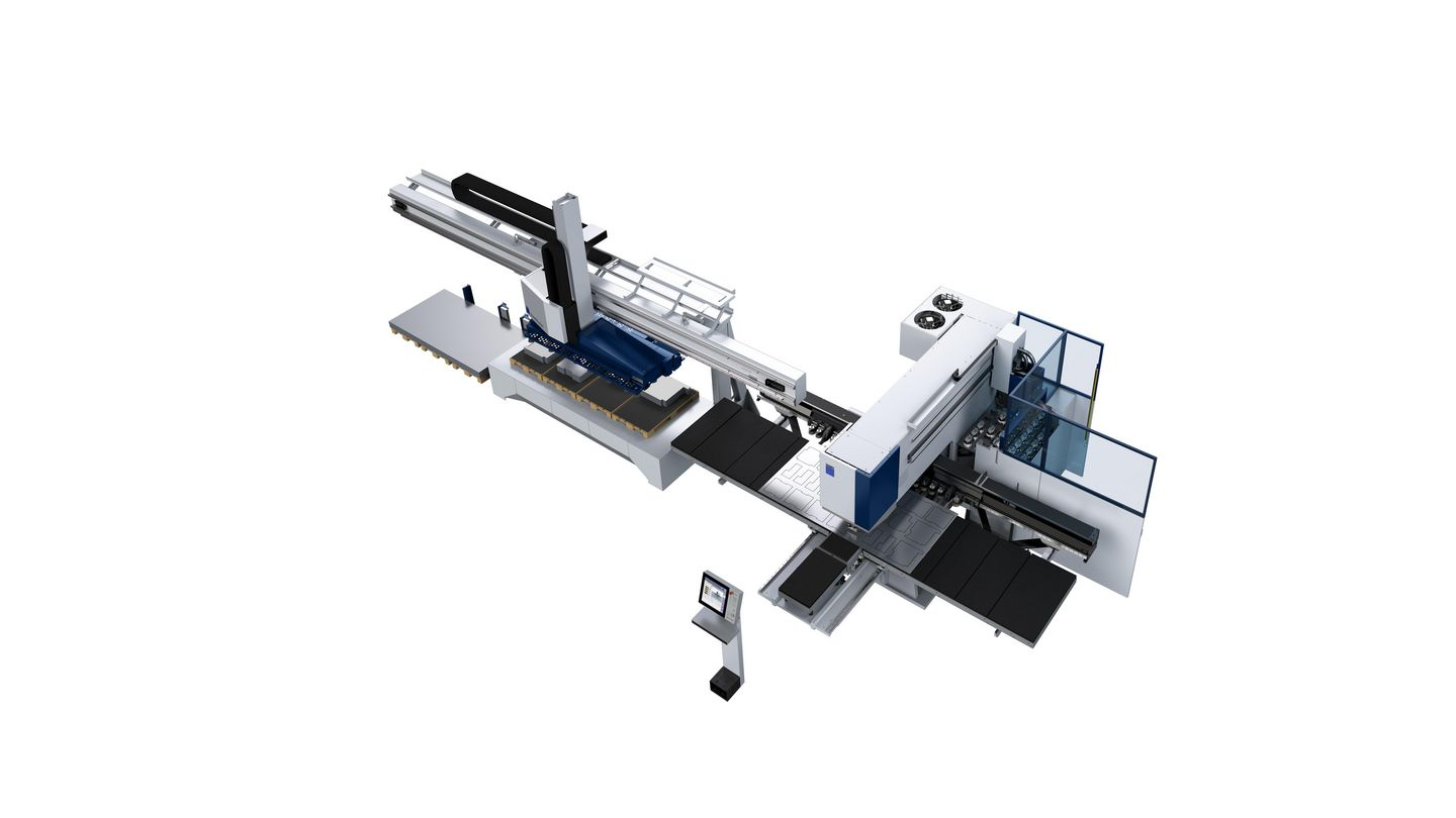 TruPunch 5000 con SheetMaster y ToolMaster Linear