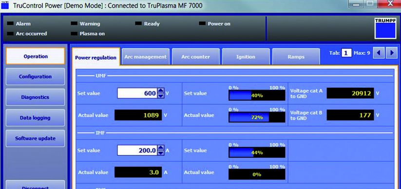 Bedienungsfreundliche Software TruControl Power