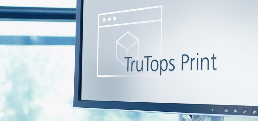 Software image TruTops Print, TRUMPF