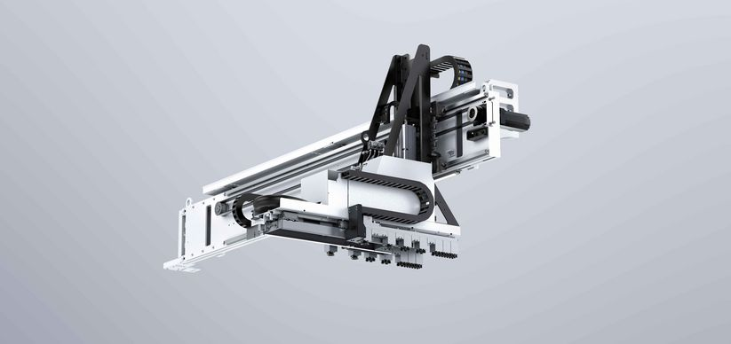SortMaster Box Linear, unloading and sorting of finished parts