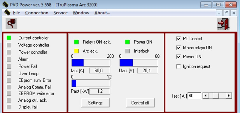 Operation, configuration, and diagnosis options with PVD Power