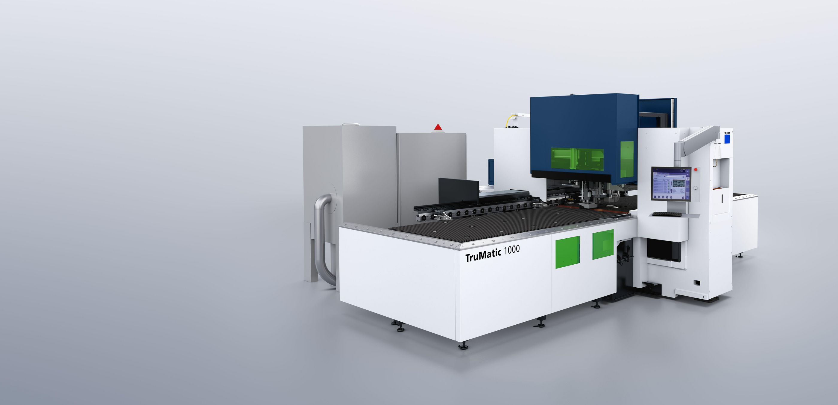 TruMatic 1000 fiber, punching head and cutting head