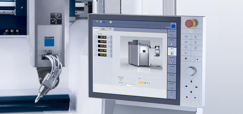 Ergonomic and user-friendly control for the TruLaser Cell 3000