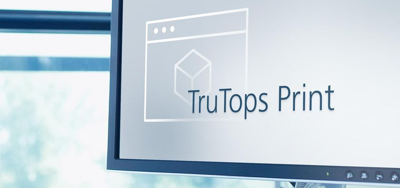 Imagem do software TruTops Print, TRUMPF
