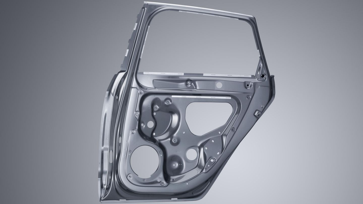 Scanner-welded car door