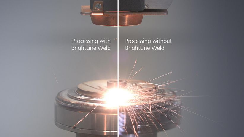 TruLaser Cell comparison BrightLine Weld application