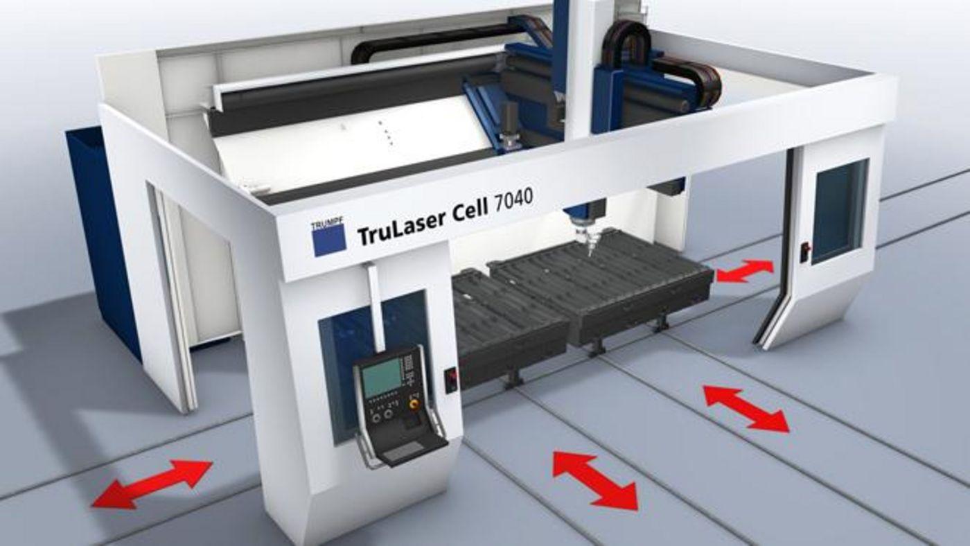 Linearwechsler der TruLaser Cell Serie 7000