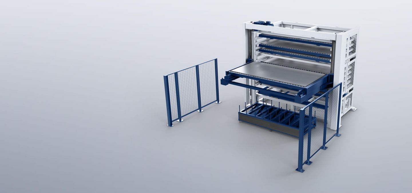 PalletMaster Tower, multiple pallet changer