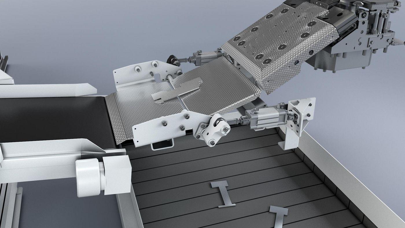 TruPunch 3000, parts conveyor belt